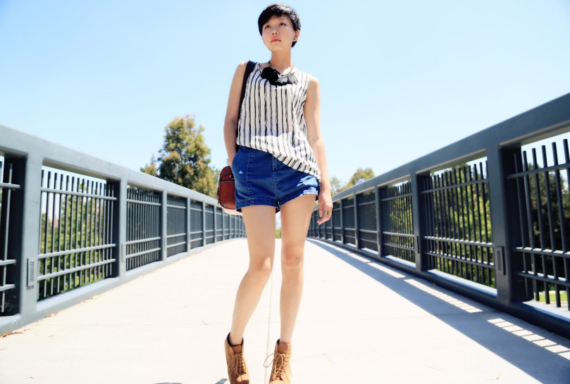 Vertical Stripe look 2