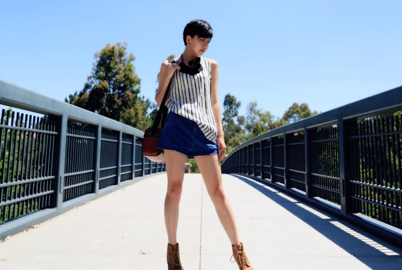 Vertical Stripe look 6