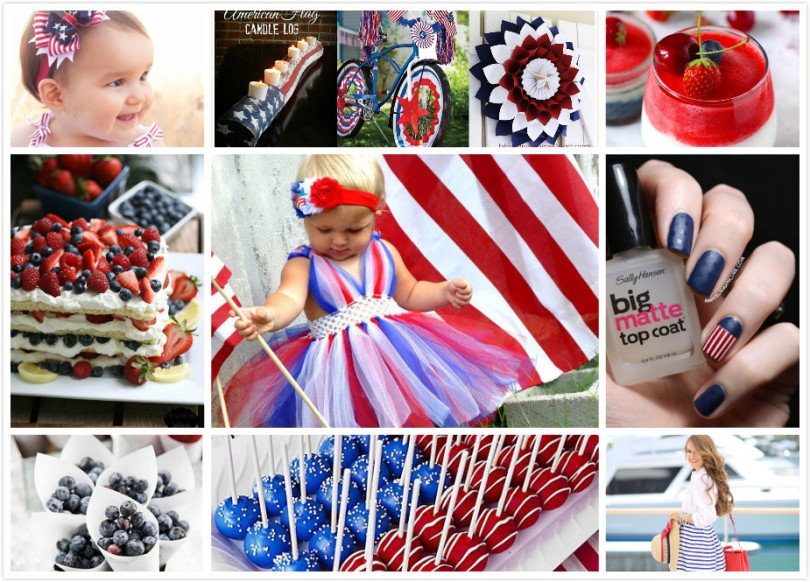Everything about July 4th: Outfit, fashion, food, drinks, cake, party, decoration, nail