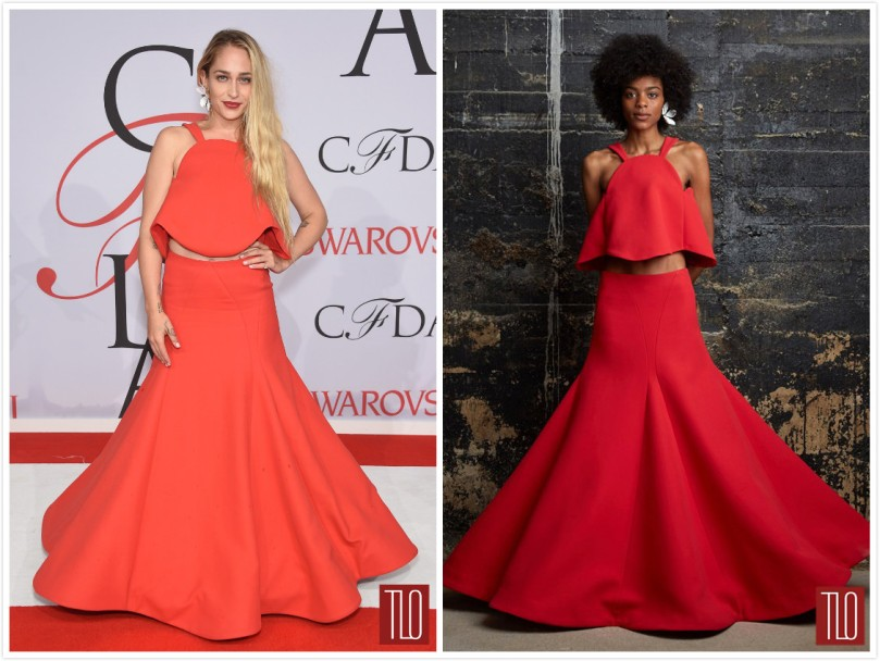 Jemima Kirke 2015 CFDA Fashion Awards Red Carpet _ Rosie Assoulin