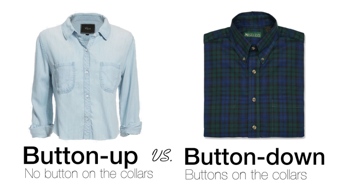 Button Up Shirt Vs Button Down Shirt
